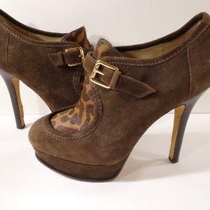 Kors Michael Kors Brown Seude Fur boots Sz 6